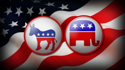 Democrats and Republicans make up the largest two of what in the United States?