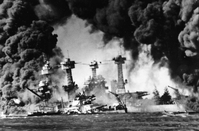 "President Franklin D.  Roosevelt called it ""a date which will live in infamy."""