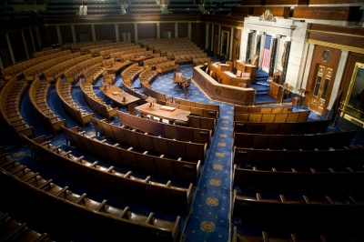 To which chamber of Congress does each state send only two congressmen?