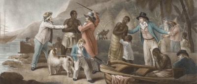 What group of people was taken to America and sold as slaves?