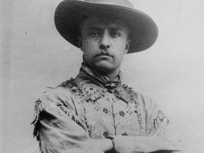 Which president had a brief career as a cowboy?
