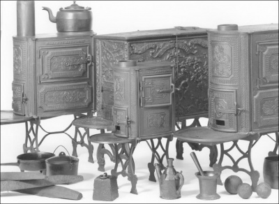 Which president had the first iron kitchen stove installed in the White House?