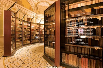 Which president helped stock the Library of Congress by selling the government his extensive personal library?