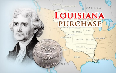 Which president brought about the purchase of the Louisiana Territory?
