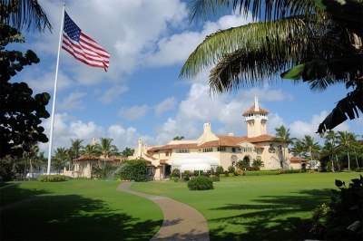 Which President owned over 17 golf courses around the world?