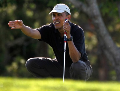 Which president played the most rounds of golf while in office?