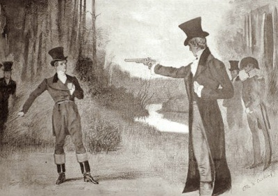 Which president was involved in a duel?