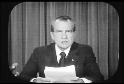 Which president was involved in the Watergate Scandal?