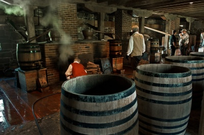 Which president was the owner of a profitable whiskey distillery?
