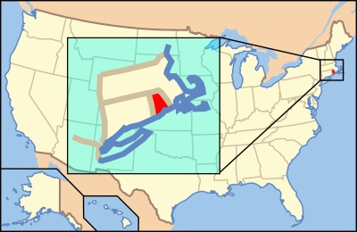 Which U.S. state is the smallest by land area?