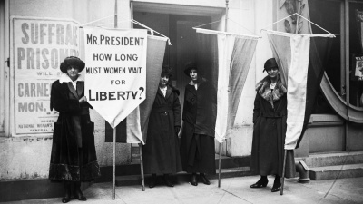 Who was president when the 19th Amendment  giving women the right to vote was signed into law?