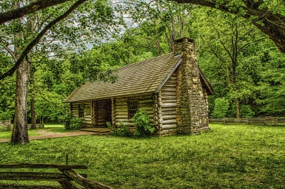 Who was the first president born in a log cabin?