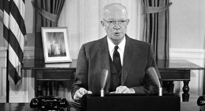 Who was the first president to deliver a speech by radio?