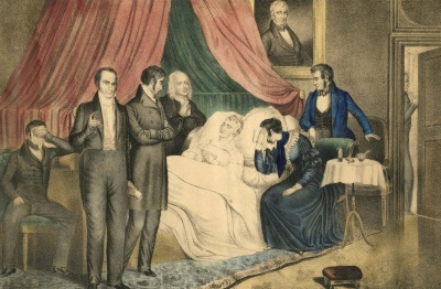 Who was the first president to die in office?