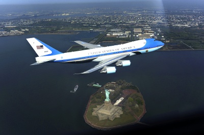 Who was the first president to fly regularly in the official jet aircraft known as Air Force One?