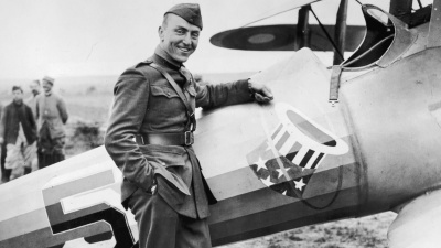 Who was the leading United States air ace in World War I?